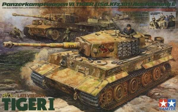 Niemiecki czołg Tiger I wraz z niemieckimi żołnierzami, plastikowy model do sklejania Tamiya 25401 w skali 1:35-image_Tamiya_25401_1