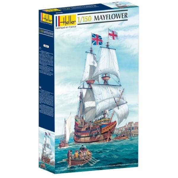 Angielski żaglowiec Mayflower, plastikowy model do sklejania Heller 80828 w skali 1:150.-image_Heller_80828_1