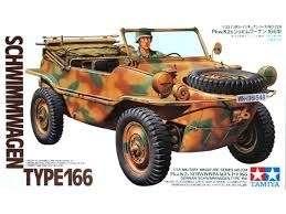Niemiecki samochód wojskowy Schwimmwagen 166, plastikowy model do sklejania Tamiya 35224 w skali 1/35.-image_Tamiya_35224_1