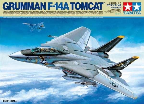 Amerykański naddźwiękowy myśliwiec Grumman F-14A Tomcat, plastikowy model do sklejania Tamiya 61114 w skali 1:48.-image_Tamiya_61114_1