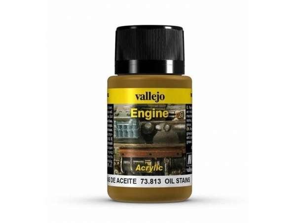 Preparat Vallejo 73813 Oil Stains - do tworzenia efektu plam oleju na modelach, dioramach-image_Vallejo_73813_1