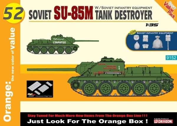 Radziecki niszczyciel czołgów SU-85M, plastikowy model do sklejania Dragon 9152 w skali 1:35.-image_Dragon_9152_1