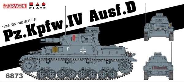 Niemiecki czołg średni PZ IV D, plastikowy model do sklejania Dragon 6873 w skali 1:35-image_Dragon_6873_1