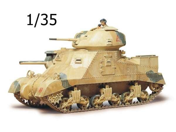 Brytyjski czołg średni M3 Grank MkI, plastikowy model do sklejania Tamiya 35041 w skali 1/35.-image_Tamiya_35041_1