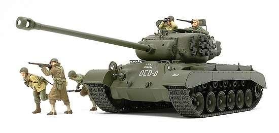 Plastikowy model do sklejania amerykańskiego czołgu Super Pershing T26E4 w skali 1:35. Model Tamiya 35319-image_Tamiya_35319_1