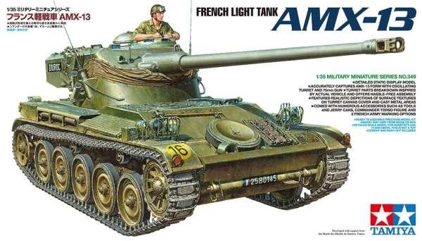 Francuski lekki czołg AMX-13, plastikowy model do sklejania Tamiya 35349 w skali 1:35.-image_Tamiya_35349_1