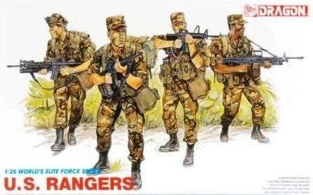 Amerykańscy żołnierze elitarnej formacji , plastikowe figurki do sklejani Dragon 3004 w skali 1:35-image_Dragon_3004_1