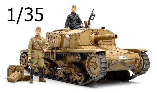 Włoskie działo samobieżne Semovente M40, plastikowy model do sklejania Tamiya 35294 w skali 1/35.-image_Tamiya_35294_1