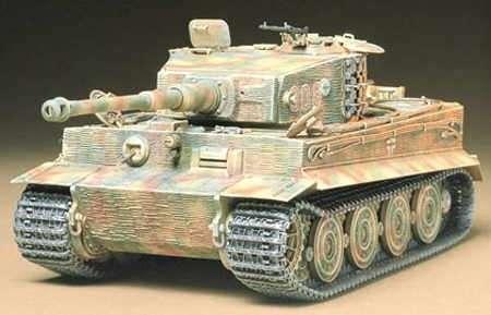 Niemiecki czołg Tiger I  wersja późna, plastikowy model do sklejania Tamiya 35146 w skali 1:35.-image_Tamiya_35146_1