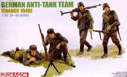 Niemiecki zespół przeciwpancerny - Francja 1940, plastikowe figurki do sklejania Dragon 6196 w skali 1:35-image_Dragon_6196_1