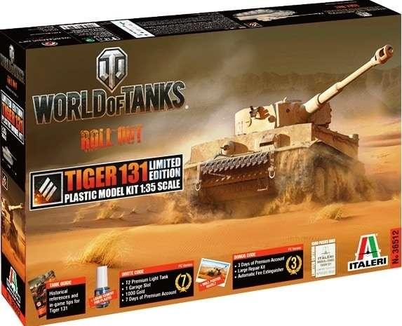 Plastikowy model do sklejania z kodami do gry World of Tanks - Tiger I model_italeri_36512_image_1-image_Italeri_36512_1