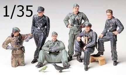 Niemieccy żołnierze - załoga czołgu, plastikowe figurki do sklejania Tamiya 35201 w skali 1/35.-image_Tamiya_35201_1