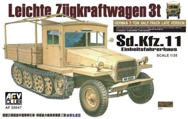 Niemiecki półgąsienicowy pojazd Sd.Kfz.11 , plastikowy model do sklejania AFV Club 35047 w skali 1:35-image_AFV Club_AF35047_1