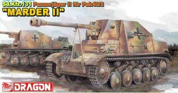 Plastikowy model do sklejania niemieckiego niszczyciela czołgów Sdkfz 131 Panzerjager II