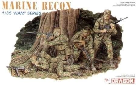 Żołnierze Marines - Oddział Rozpoznania Terenu , plastikowe figurki do sklejania Dragon nr 3313 w skali 1:35-image_Dragon_3313_1