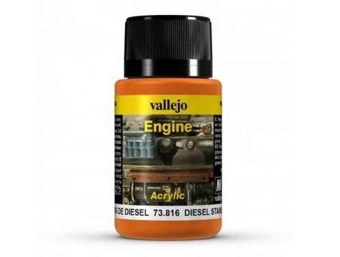Preparat Vallejo 73816 Diesel Stains - do tworzenia efektu plam oleju napędowego na modelach, dioramach-image_Vallejo_73816_1