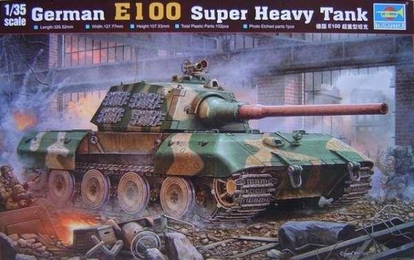 Model ciężkiego czołgu E-100 w skali 1:35, plastikowy model do sklejania.-image_Trumpeter_00384_1