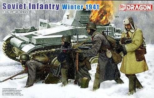 Radziecka piechota - zima 1941, plastikowe figurki do sklejania Dragon 6744 w skali 1:35-image_Dragon_6744_1