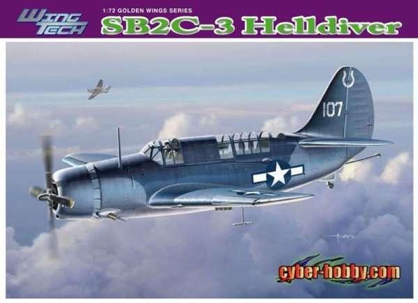 Amerykański bombowiec nurkujący Curtis SB2C-3 Helldiver, plastikowy model do sklejania Dragon 5059 w skali 1:72-image_Dragon_5059_1