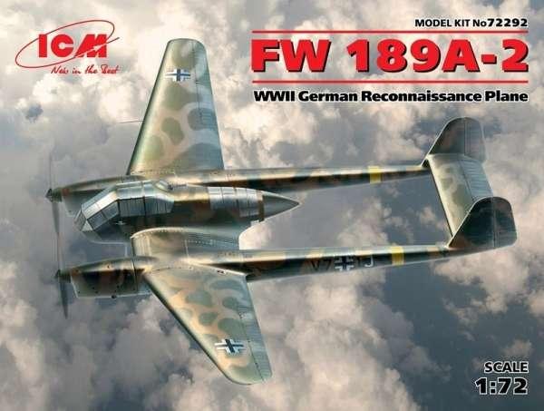 Niemiecki rozpoznawczy samolot Focke-Wulf Fw 189A-2, plastikowy model do sklejania ICM 72292 w skali 1:72-image_ICM_72292_1
