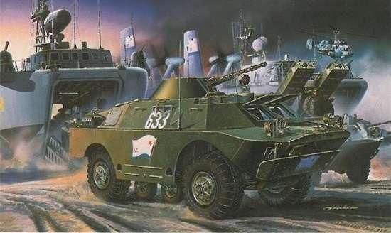 Radziecki opancerzony pojazd rozpoznawczy BRDM-2, plastikowy model do sklejania Dragon 3513 w skali 1:35.-image_Dragon_3513_1