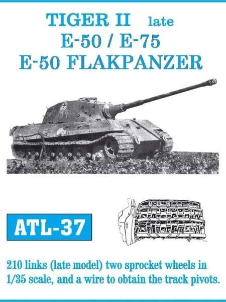 Metalowe gąsienice do modelu Tiger II late / E-50 / E-75 / E-50 Flakpanzer w skali 1:35, Friulmodel ATL-37-image_Friulmodel_ATL-37_1