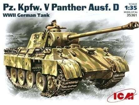 Niemiecki czołg średni Pz.Kfpw. V Panther, plastikowy model do sklejania ICM 35361 w skali 1:35-image_ICM_35361_1