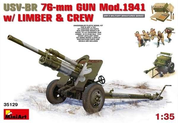 MOdel sowieckiego działa USV-BR 76mm mod.1941 do sklejania od firmy MiniArt 35129-image_MiniArt_35129_1
