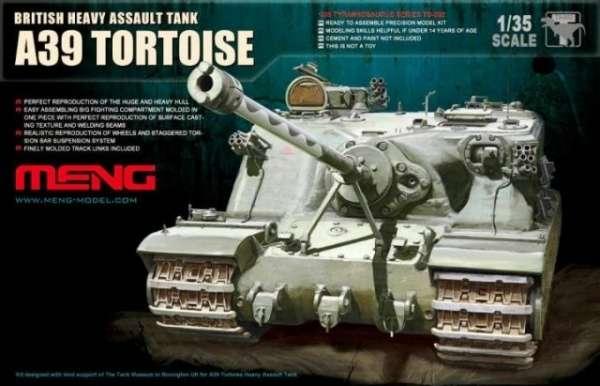 Brytyjski prototypowy czołg superciężki A39 Tortoise , plastikowy model do sklejania Meng TS-002 w skali 1:35-image_Meng_TS-002_1