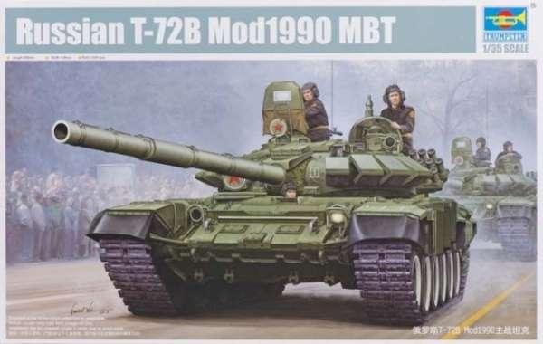 Radziecki czołg T-72B w wersji z 1990, plastikowy model do sklejania Trumpeter 05564 w skali 1:35-image_Trumpeter_05564_1