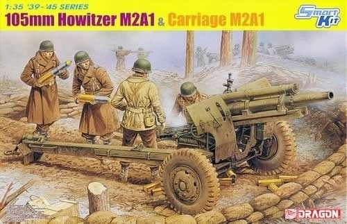 Amerykańska haubica 105mm M2A1, plastikowy model do sklejania Dragon 6499 w skali 1:35.-image_Dragon_6499_1