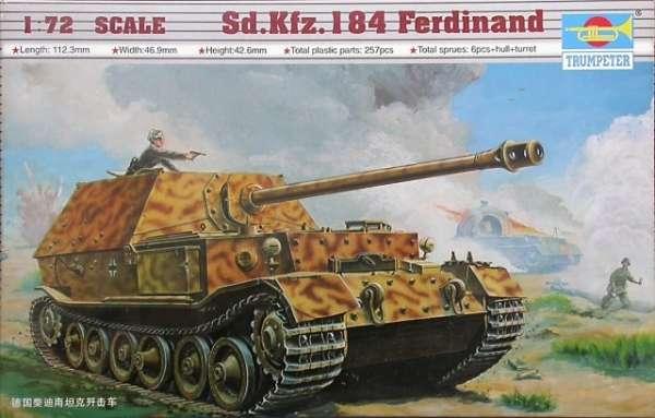 Niemiecki niszczyciel czołgów Sd.Kfz.184 Ferdinand , plastikowy model do sklejania Trumpeter 07205 w skali 1:72-image_Trumpeter_07205_1
