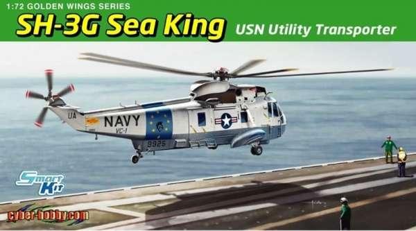 Amerykański dwusilnikowy śmigłowiec transportowy Sikorsky SH-3G Sea King, plastikowy model do sklejania Dragon 5113 w skali 1:72.-image_Dragon_5113_1