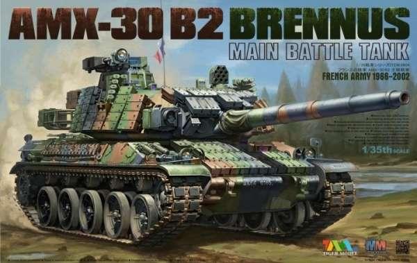 Francuski czołg podstawowy AMX-30 B2 Brennus , plastikowy model do sklejania Tiger Model 4604 w skali 1:35-image_Tiger Model_4604_1