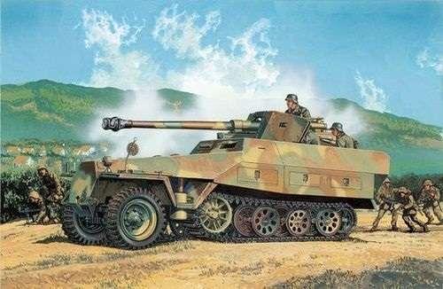 Niemiecki półgąsienicowy niszczyciel czołgów Sd.Kfz 251/22 z działem PaK 40, plastikowy model do sklejania Dragon 6248 w skali 1:35.-image_Dragon_6248_1
