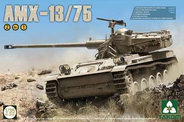 Francuski lekki czołg AMX-13/75, plastikowy model do sklejania Takom 2036 w skali 1:35.-image_Takom_2036_1