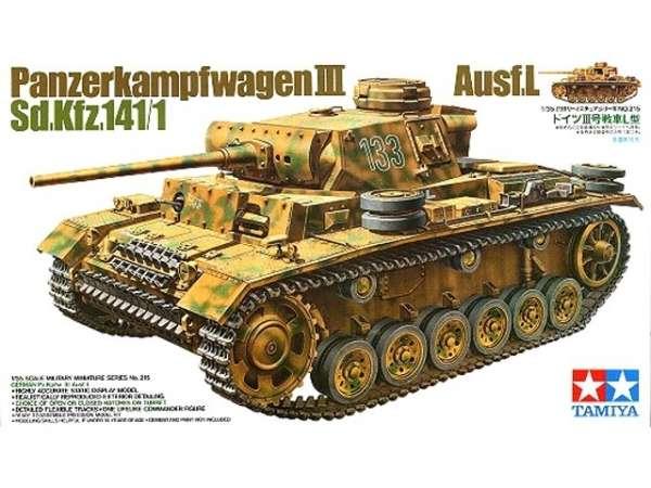 Niemiecki czołg Pz.Kpfw.  III wersja L, plastikowy model do sklejania Tamiya 35215 w skali 1:35-image_Tamiya_35215_1