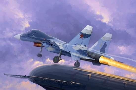 Rosyjski samolot myśliwski Su-33UB Flanker D , plastikowy model do sklejania Trumpeter 01669 w skali 1:72-image_Trumpeter_01669_1