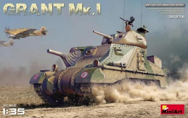 Model czołgu Mk.I Grant w skali 1:35 do sklejania