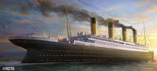 Model do sklejania legendarnego liniowca pasażerskiego Titanic w skali 1:400, model Academy 14215.-image_Academy_14215_1