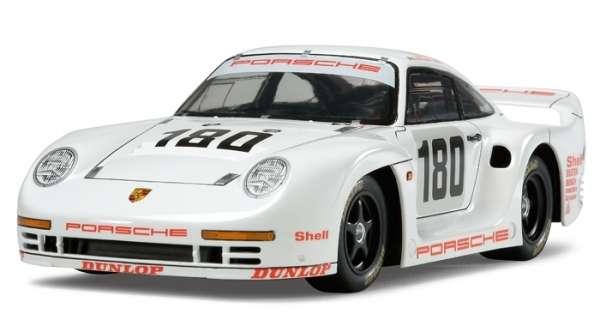 Niemiecki samochód Porsche 961 Le Mans 24 Hours 1986, plastikowy model do sklejania Tamiya 24320 w skali 1:24.-image_Tamiya_24320_1