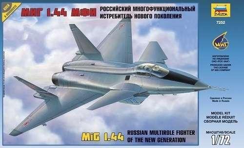 Radziecki myśliwiec MiG 1.44, plastikowy model do sklejania Zvezda 7252 w skali 1:72.-image_Zvezda_7252_1