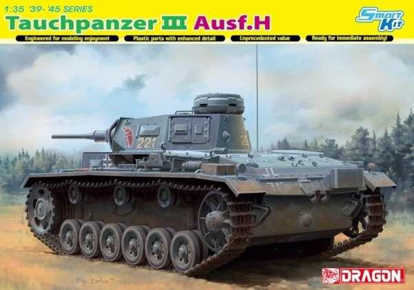 Niemiecki czołg Panzerkampfwagen III (Tauchpanzer III Ausf.H) do działań pod wodą, plastikowy model do sklejania Dragon 6775 w skali 1:35-image_Dragon_6775_1