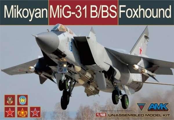 Radziecki myśliwiec Mig31 B/BS Foxhound, plastikowy model do sklejania AMK 88008 w skali 1:48-image_AMK_88008_1