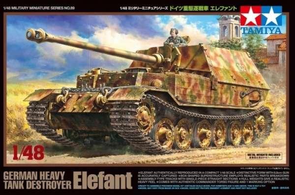 Niemiecki ciężki niszczyciel czołgów Elefant, plastikowy model do sklejania Tamiya 32589 w skali 1:48-image_Tamiya_32589_1