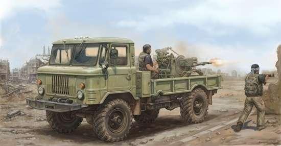 Radziecki samochód ciężarowy GAZ-66, plastikowy model do sklejania Trumpeter 01017 w skali 1:35-image_Trumpeter_01017_1