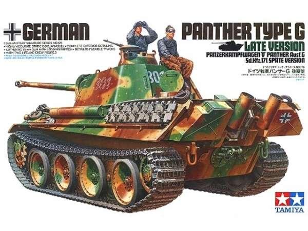 Niemiecki czołg Panther typ G późna wersja, plastikowy model do sklejania Tamiya 35176 w skali 1:35-image_Tamiya_35176_1