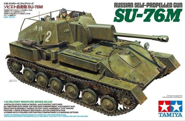 Radzieckie samobieżne działo SU-76M, plastikowy model do sklejania Tamiya 35348 w skali 1:35.-image_Tamiya_35348_1