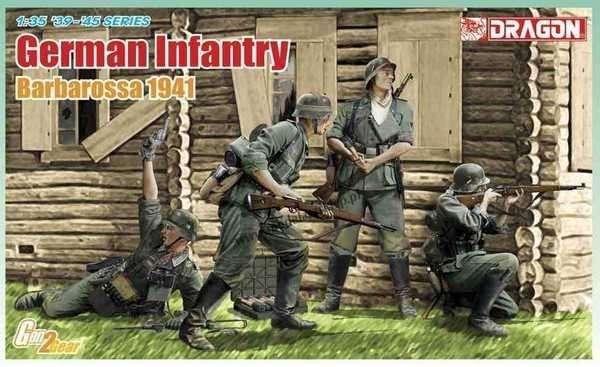 Niemiecka piechota - Barbarossa 1941, plastikowe figurki do sklejania Dragon 6580 w skali 1:35-image_Dragon_6580_1