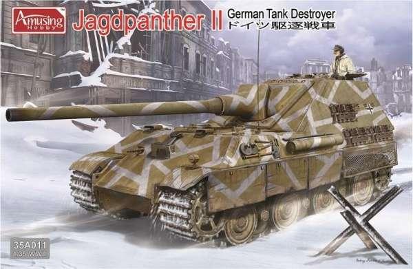 Niemiecki niszczyciel czołgów Jagdpanther II, plastikowy model do sklejania Amusing Hobby 35A011 w skali 1:35-image_Amusing Hobby_35A011_1